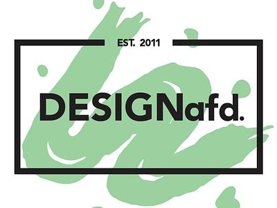DESIGNafd. new logo, color variation #5 brush green logo design logo