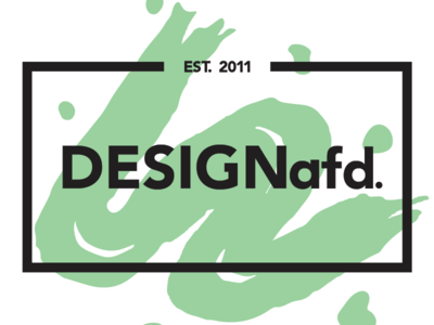 DESIGNafd. new logo, color variation #5 brush green logo design logo