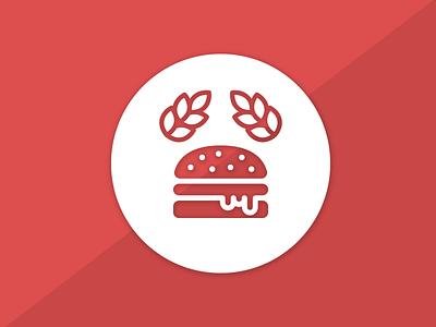 Burgerimperiet 2016 logo update burger red logo design logo