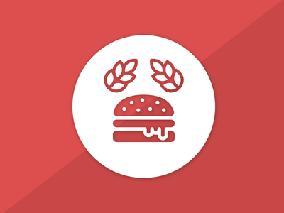 Burgerimperiet 2016 logo update burger red logo design logo