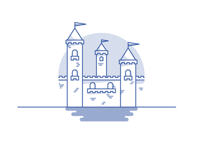 Weekly challenge: #1 Castle 7daystocreate 7 days to create logo tower shadows illustration icon flat colors challenge castle