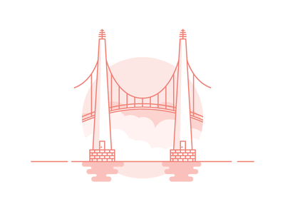 Weekly challenge: #8 Bridges 7daystocreate 7 days to create logo shadows illustration icon flat colors challenge bridge