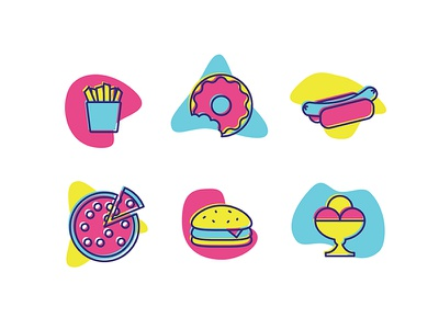 #AnIconADay challenge - Fast Food an icon a day fast food icons icon design
