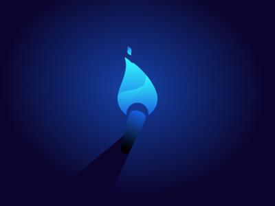 Blue torch