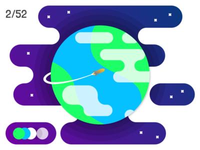 Rocket around the planet