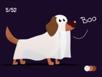 Hallowiener dog