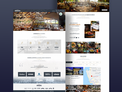 Website concept for a famous mexican restaurant corporation