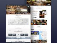 Website concept for a famous mexican restaurant corporation