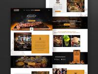 Web design homepage for Restaurant