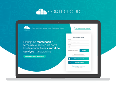 Cortecloud - Marceneiro hero header login register sign up sign in central de serviços marceneiro cortecloud