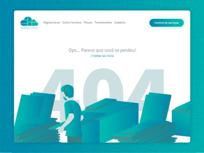 Página 404 - Cortecloud page error 404
