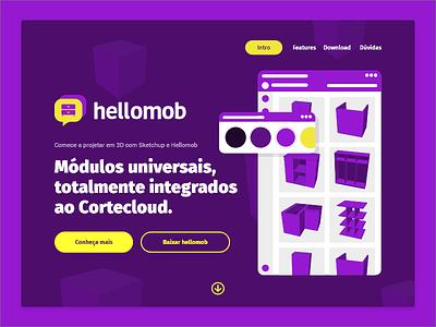 Hellomob landing page cortecloud hellomob design ux ui user experience user interface landing page