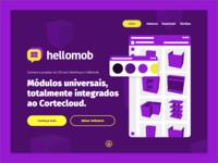 Hellomob landing page