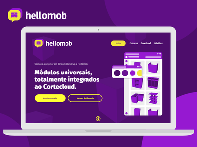 Landing page hellomob illustrations design ux ui user experience user interface landing page