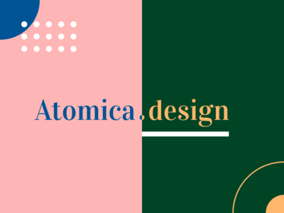 Atomica Design colored brand agency brand atomic design atomic design user interface