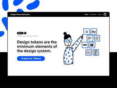 Design Tokens Generator illustration ui user interface generator token design