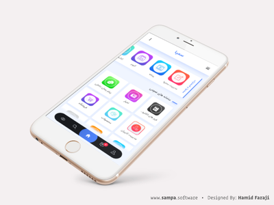 Sampa Mobile Version bottom navigation pwa mobile admin panel cms web app
