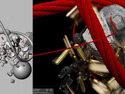String Figures animation megascans scans metal track music video cg 3d