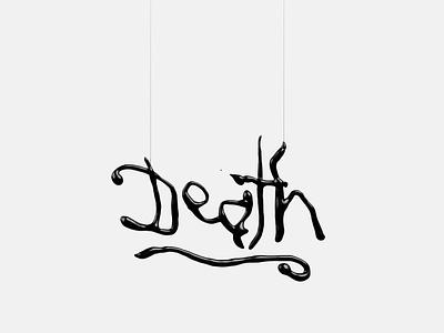 Black Death design illustration type cgtype light cgillustration 3dart c4d cgi cg 3ddesign 3dillustration 3d