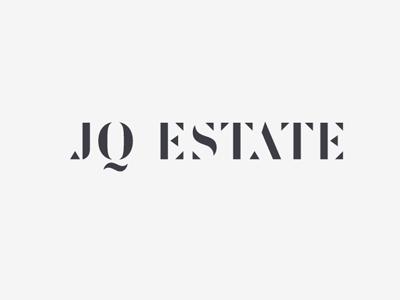 JQ Estate space lettering sign logo estate classic