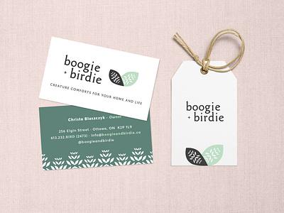 boogie + birdie Brand Identity business card branding brand identity
