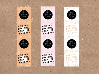 Packing tape designs for The Gifted Type illustrations patterns packaging collateral brand identity