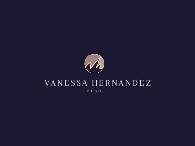 Vanessa Hernandez Music logo logo brand identity branding
