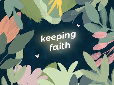 Keeping Faith Podcast Art illustration podcast artwork podcast logo podcast art podcast