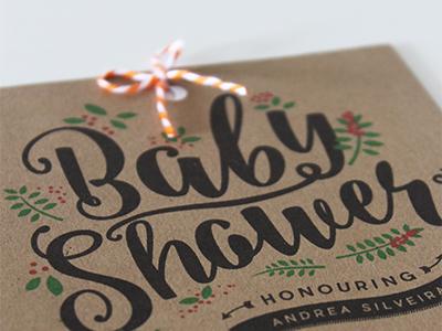 Baby Shower Invite babyshower typography handmade stationary cards invite