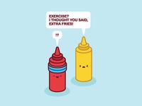 ketchup + mustard meme