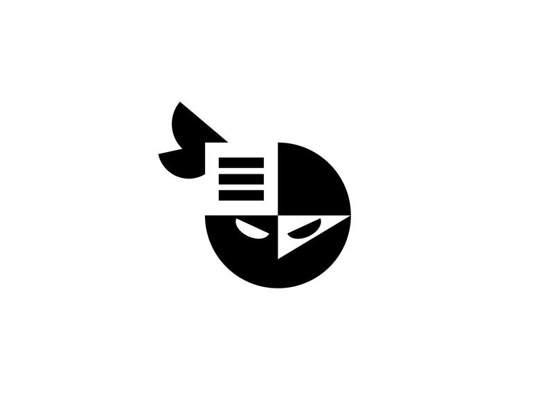 Ninfo 2 media news information ninja geometric logodesign modern logo