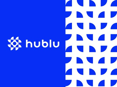 hublu brand identity creative design agency digital blue geometric logodesign modern logo