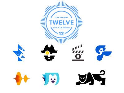 LogoLounge 12 12 logolounge music polarbear captain cinema panther blue jay animal geometric logodesign modern logo