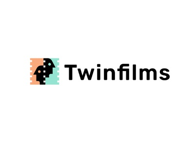 TwinFilms entertainment twins films mvies branding geometric logodesign modern logo