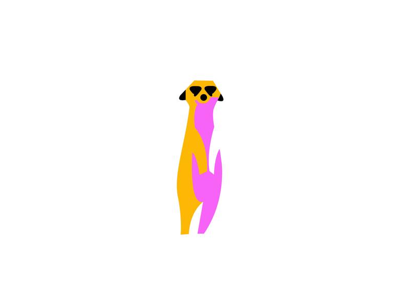 meerkat concept meerkat animal logodesign modern logo