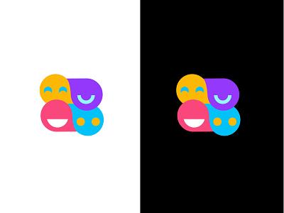 Sparkz games social chat bold geometric logodesign modern logo