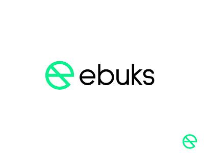 ebuks letter simple bold geometric logodesign modern logo