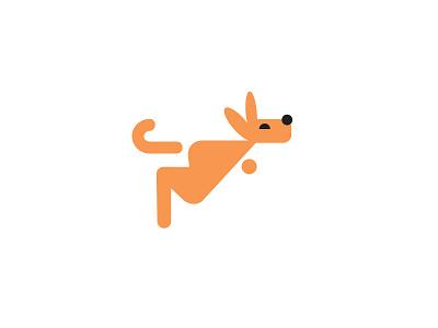 kangaroo kangaroo animal bold geometric logodesign modern logo