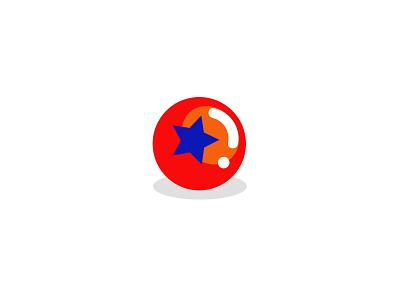 Ball concept 2 ball simple logodesign modern logo