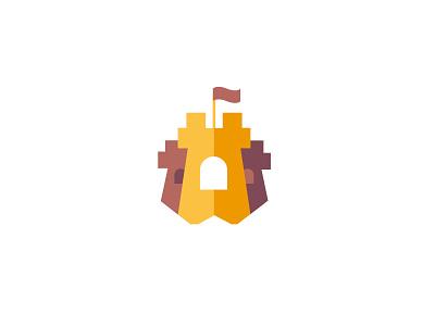 Castle castle bold geometric logodesign modern logo