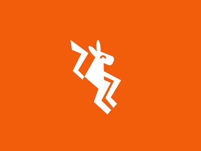 kangaroo 2 kangaroo animal geometric logodesign modern logo
