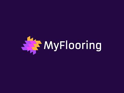 MyFlooring2 branding floors bold geometric logodesign modern logo