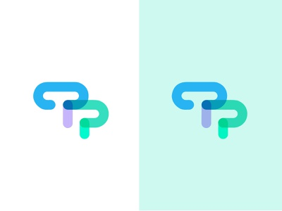 T P #2 letter technology simple design bold geometric logodesign modern logo