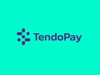 TendoPay 2 branding technology simple geometric logodesign modern logo