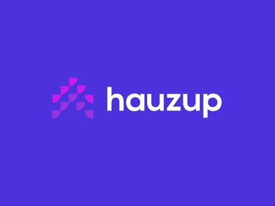 Hauzup technology simple geometric logodesign modern logo