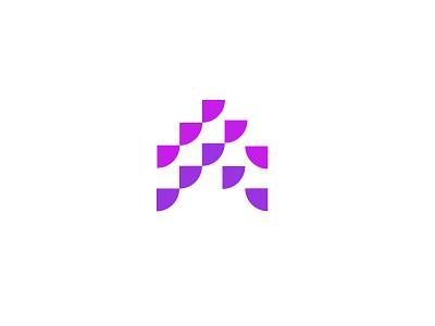 Hauzup 2 technology growth arrow branding simple geometric logodesign modern logo