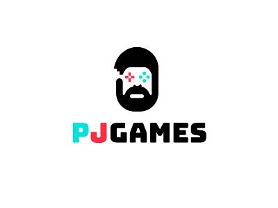 PJ Games games logo bold geometric logodesign modern logo