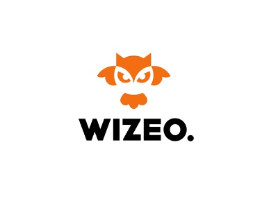 wizeo bird owl animal design bold geometric logodesign modern logo