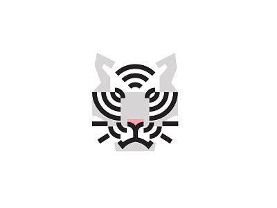 white tiger white tiger tiger design animal bold geometric logodesign modern logo