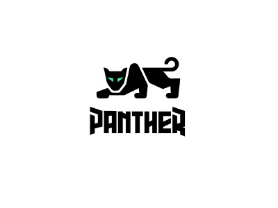 panther panther animal design bold geometric logodesign modern logo